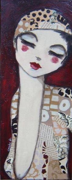 Pourquoi pas? - Peinture,  50x20 cm ©2010 par carine b -