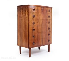 Antiques Atlas - Mid Century Danish Walnut Chest Of Drawers
