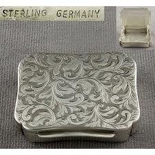 Sterling pill box