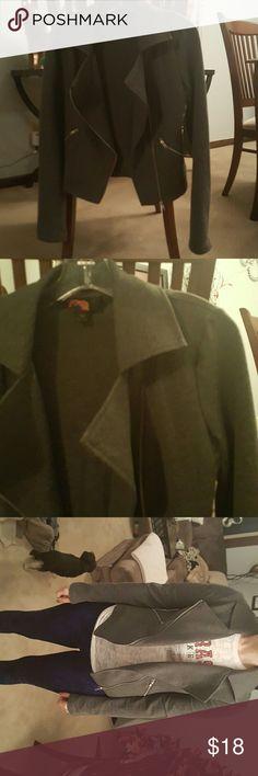 Moto jacket Grey moto jacket, like new Forever 21 Jackets & Coats