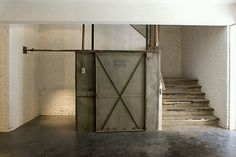Industrial Barn Door And Stairs