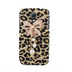 Candymaker Bling Diamond Bowknot Pearl gold Leopard Hard Case Cover For Samsung Galaxy S4 S IV i9500:Amazon:Cell Phones & Accessories