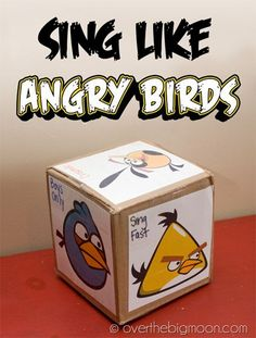 Sing Like Angry Birds! Make a cube of Angry Birds and add ways to sing then let kids roll. Primary Songs, Primary Singing Time, Primary Activities, Primary Lessons, Music Activities, Lds Primary, Music Games, Preschool Songs, Time Activities