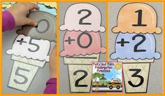ONLY $2 for Markdown Monday until 5/29/16) Scoopin' Up Sums will be a great summer-themed way for your students to practice their basic addition facts from 0 to 10! Children can use these materials as a whole group, in small groups, or at a cooperative or independent math center. This activity pack includes 66 pages of ice cream scoops and ice cream cones to create math facts, 3 different recording sheets, and ideas for classroom differentiation.