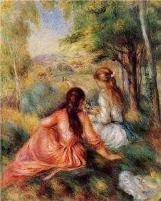 Picking Flowers (In the Field) - Pierre-Auguste Renoir
