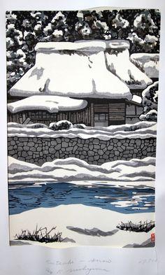 Kutsuki in Snow, by Nishijima Katsuyuki.
