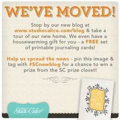 Studio Calico has a new blog, and they're giving everyone these cute cards to celebrate! #SCnewblog