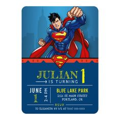 Superman | Happy Birthday Invitation