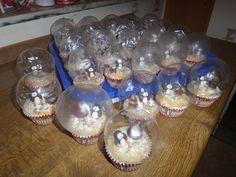 Schneekugel snow globes Cupcakes Muffins