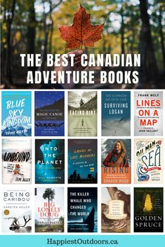Oh Canada! These are the best books about outdoor adventures in Canada or about Canadian adverturers. Read about mountaineering expeditions, canoe trips, cave diving, skiing, animals, trees, and more. If you love reading outdoorsy books, this list of Canadian adventure books is for you. Add these outdoor books about Canada to your reading list. #AdventureBooks #CanadianBooks. Adventure Books, Adventure Film, Books To Read Before You Die, Best Books To Read, Vancouver Travel, Vancouver Island, Backpacking Tips, Camping Tips, Travel Books