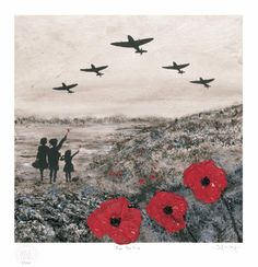 Professionally produced high quality print on textured brilliant white Zetamatt linen textured board Title: For The Few Artist: Jacqueline Hurley Collection: The War Poppy Collection © 2016 Jacqueline Hurley - Port Out, Starboard Home POSH® Original Art Remembrance Day Art, Remembrance Day Drawings, Ww1 Art, Original Art, Original Paintings, Anzac Day, Lady Diana, Military Art, Limited Edition Prints