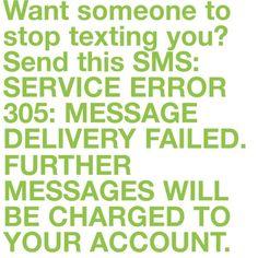 stop texting me