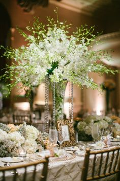 Tall centerpieces with dendrobium orchids from Colombia!