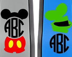 Minnie Monogrammed Character Decal for your by YouGotPersonal