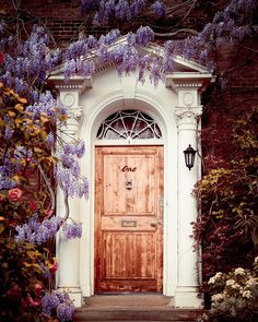 Door with Flowers London Photography by EyePoetryPhotography, $30.00
