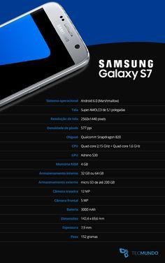 Tudo sobre os novos Samsung Galaxy S7 e Samsung Galaxy S7 edge - TecMundo Cell Phone Deals, Free Cell Phone, Cell Phone Holder, Samsung Galaxy 8, Galaxy S7, Iphone Price, Quad, Samsung Mobile, Health And Safety