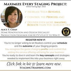 Coming soon! Click the image to learn more now. Intensive Training, Home Staging, Hgtv, Workshop, Learning, Projects, Image, Log Projects, Atelier