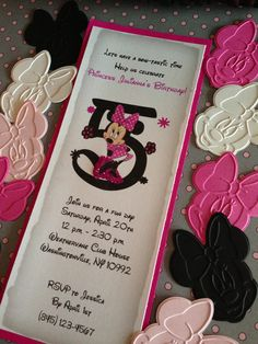 Minnie Mouse Birthday Invitation by TrivisaniDesigns on Etsy, $3.50