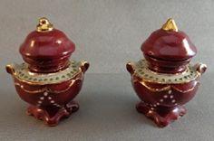 Urn, Red Glazed, Pair