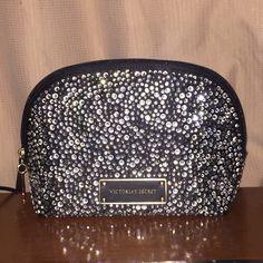 Studded Victoria's Secret makeup bag NWOT PINK Victoria's Secret Bags Cosmetic Bags & Cases