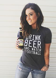 Drink Beer & Watch Football pebbyforevee.com + free shipping