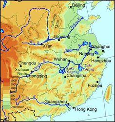 Major rivers of China proper