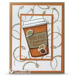 CARD: Pumpkin Spice Latte Season from the Merry Cafe Stamp Set – Part 1 of 2 | Stampin Up Demonstrator - Tami White - Stamp With Tami Crafting and Card-Making Stampin Up blog