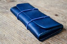 Leather pencil case pen case. Leather glasses case. by ByHandStore