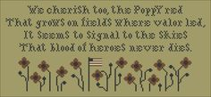Remember -- A Patriot's Sampler 2 -- Red Poppy Plum Street Samplers.