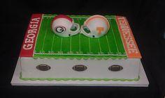 House divided football cake