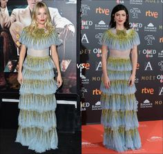 Who do you think wore this Gucci dress better?  Sienna Miller or Bárbara Lennie?