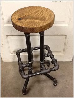 Industrial Bar Stool with Round Top interior interior design industrial bar stool with round top