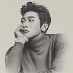 Twitter Ji Chang Wook Smile, Ji Chang Wook Healer, Korean Art, Korean Drama, Korean Celebrities, Korean Actors, Healer Kdrama, Color Pencil Sketch, Pencil Art