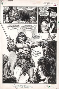 SAVAGE SWORD OF CONAN #12 PAGE 53 ....Notice Roy Thomas' comments to the inker Alfredo Alcala. John Buscema, the penciller is known to do very sketchy pencils