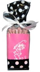 SPECIAL Golf Gals Deluxe Collapsible Neoprene Kan Holder (Koozies) Combos - Pink & Lime