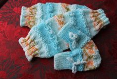 Baby knits Collections legwarmers and mittens - pattern on Etsy.