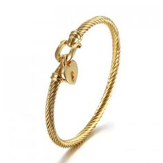 chinese gold stainless steel cable bracelet