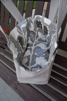 Pet+Carrier+Tote+Pale+Grey+With+Botanical+Print+by+ZabiZu+on+Etsy,+$59.00