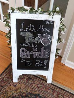 Another use of our double sided Chalkboard- A Standing