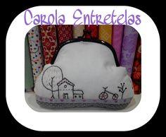 Monedero con boquilla, PVP: 18€, boquilla, patrón y telas disponibles en CArola Entretelas, consultar en mi página de facebook
