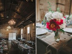 Catee & David | Brooklyn Wedding | The Green Building.  Photos by Lev Kuperman, food by Red Table Catering, florals by Fox Fodder Farm.