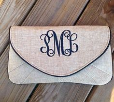 Check out this item in my Etsy shop https://www.etsy.com/listing/462727255/monogrammed-clutch-bridesmaids-clutch