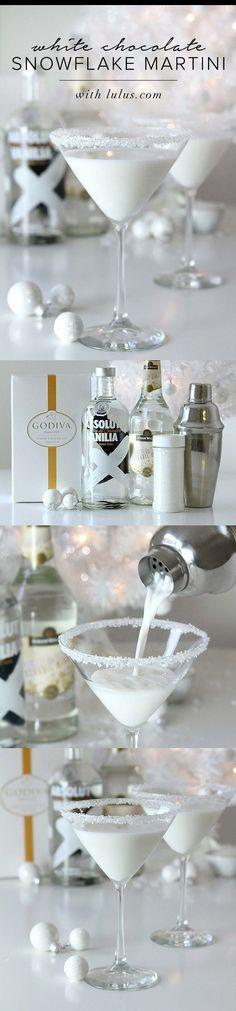Godiva white chocolate liquor, vanilla vodka and white creme de cocoa.   I…