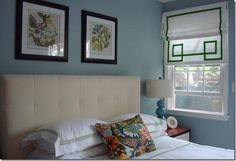more guest room inspiration. love the chiang mai dragon fabric.