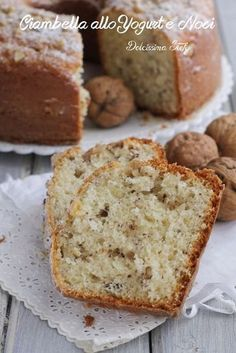 Bundt Cake with yogurt and nuts without butter Dairy Free Recipes, Baking Recipes, Raspberry Coffee Cakes, Italian Lemon Pound Cake, Keto Chocolate Chips, Cooking Cake, Yogurt Cake, Plum Cake, Italian Desserts