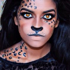 LEOPARD MAKEUP by sharifaeasmin. Tag your pics with #Halloween and #SephoraSelfie on Sephora's Beauty Board for a chance to be featured!