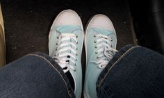 Blue sneakers Blauwe gymschoenen