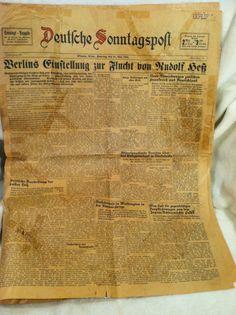 Vintage German language newspaper - 18 May 1941 - Winona, Minnesota www.visitwinona.com