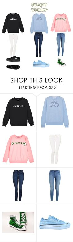 """""""Sweater Weather"""" by michelalien on Polyvore featuring Lingua Franca, VIVETTA, Hudson Jeans, Topshop, Carlos by Carlos Santana and Converse"""