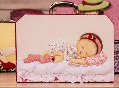 Arte Brasil   Patchwork Embutido em Caixa de Bebê - Márcia Marcão